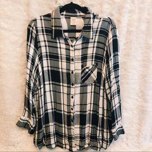 B&W light flannel shirt